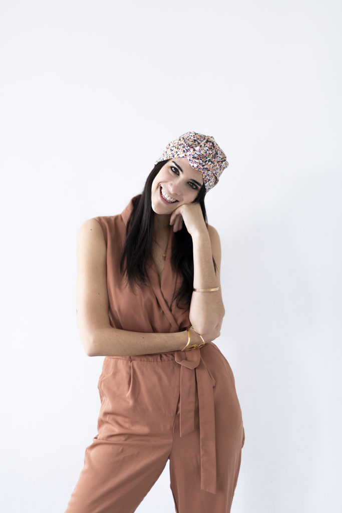 photo, Virginie, couture,turban, Kesi Art, DIY, kit couture