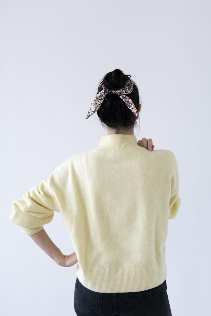 photo, Virginie, couture, foulchie, chouchou, élastique, Kesi Art, DIY, kit couture