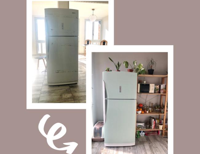 photo, frigo, peinture, pendre facilement son frigo