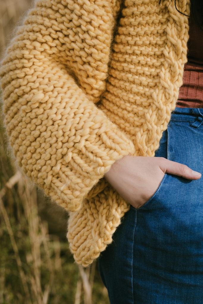 gilet doudou, gilet en laine, DIY tricot, tricot facile, tricoter, tricot débutant