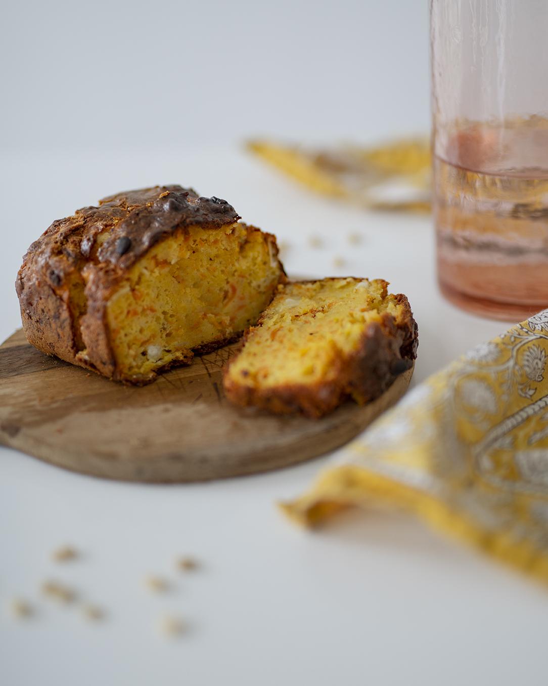 photo, cuisine, recette, cake salé, recette facile, cake aux carottes et au chèvre