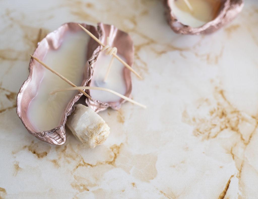 photo, diy, tutoriel, faire des bougues, bougie maison, que faire avec ses coquillages, cire de soja, la petite épicerie