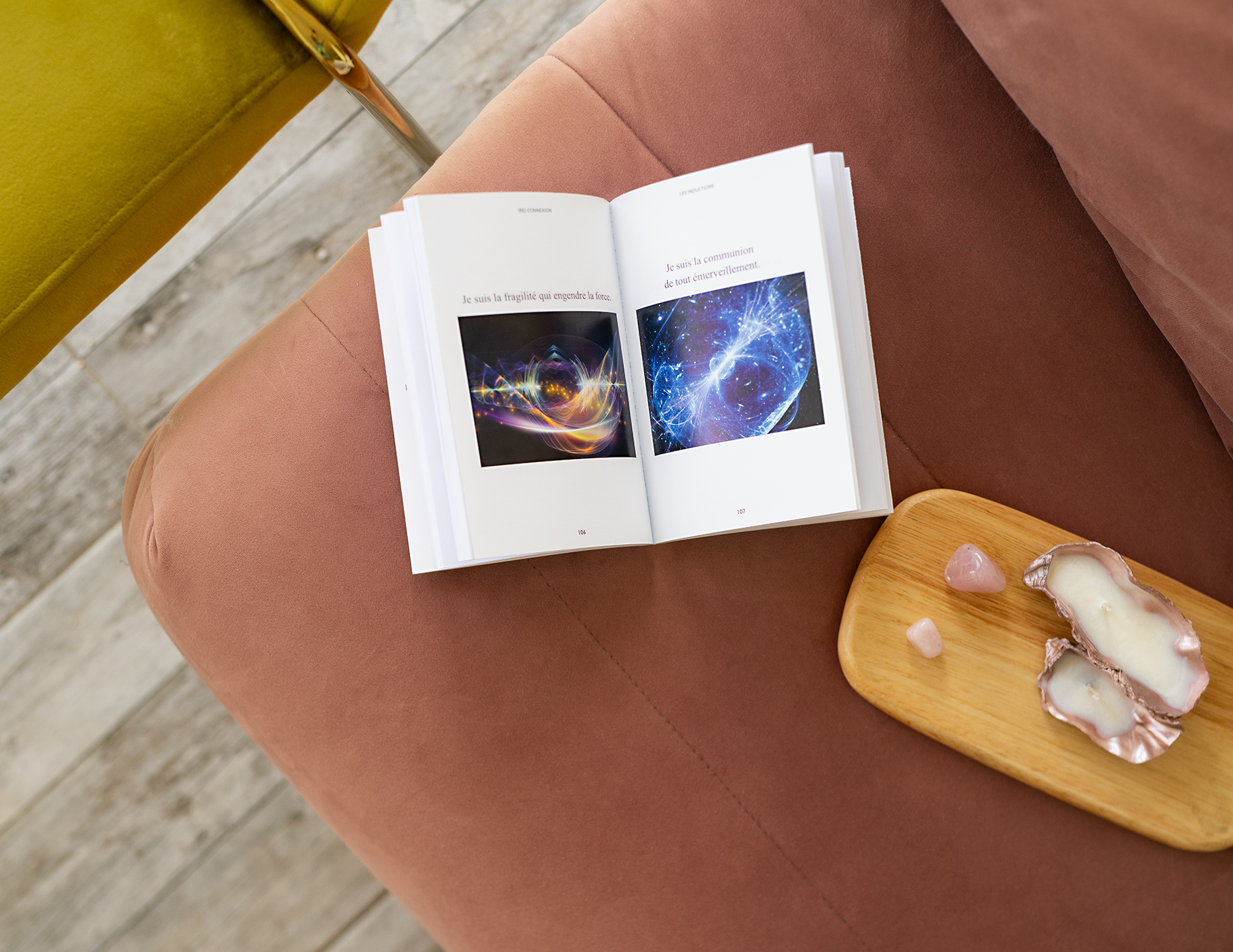 photo, (Re)Connexion, interieur du livre, lecture, livre, Sandra Dania, éditions Leduc, Leduc Eso, ésotérisme, guide d'éveil